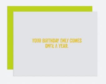 Leap Day - Birthday Card