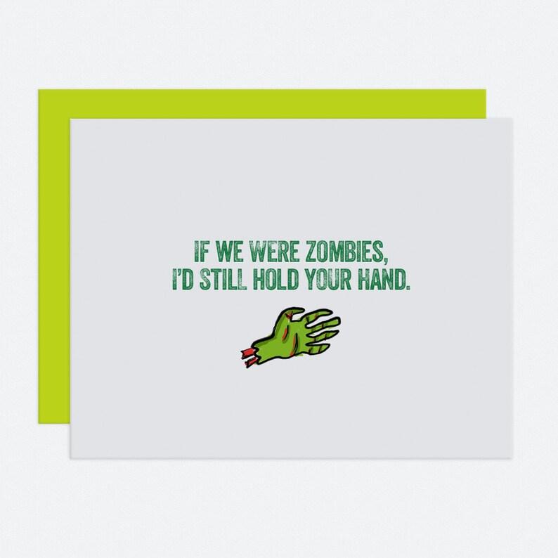 Zombie Hands  I Like You Card image 1