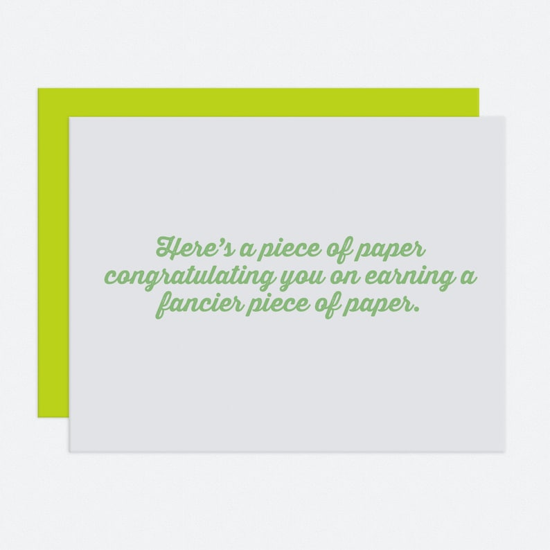 Fancy Paper  Graduation Card image 1