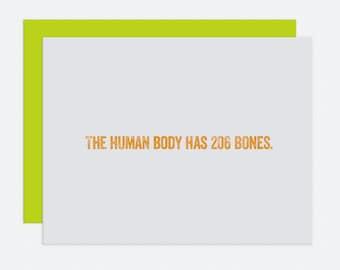 207 Bones - I Like You Card