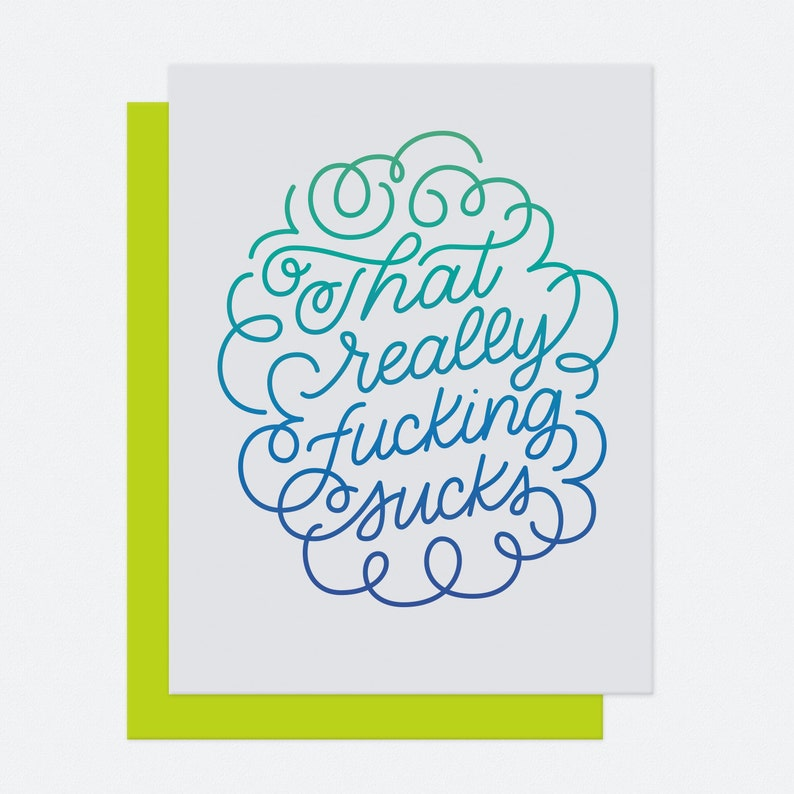 That Sucks  Sympathy Card image 1