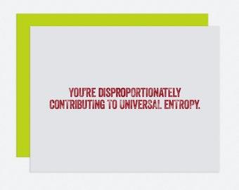 Entropy - I Like You Card