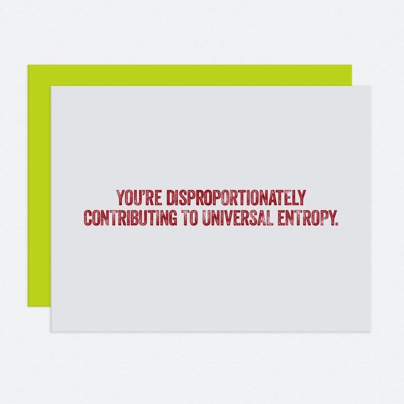 Entropy  I Like You Card image 1