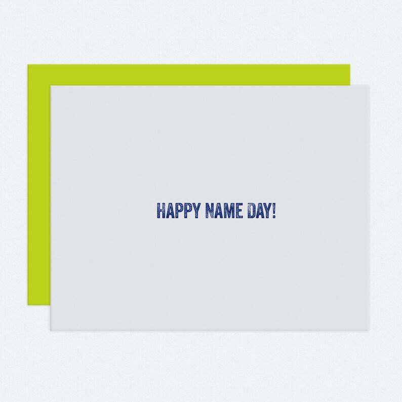 Name Day  Birthday Card image 1