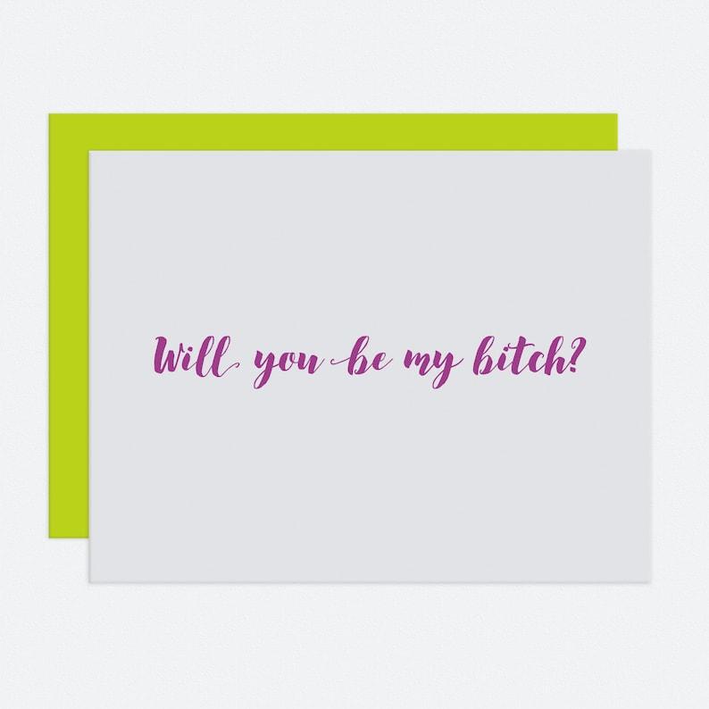Bridesbitch  Bridesmaid Card image 1