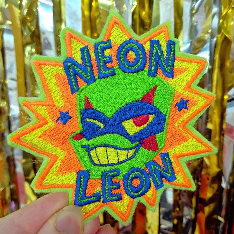 NEON LEON rottmnt iron-on patch image 0