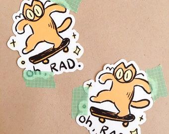 rad cat sticker