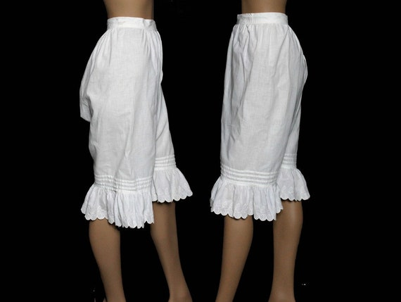 Vintage 1800's Bloomers// White//Embroidered //Op… - image 2