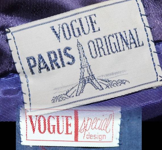 Vintage 1930s 1940s Blue Velvet Vouge Gown - image 4
