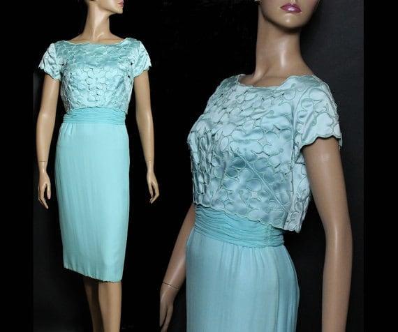 Vintage 1950s Dress Parues Feinstein Couture Rocka