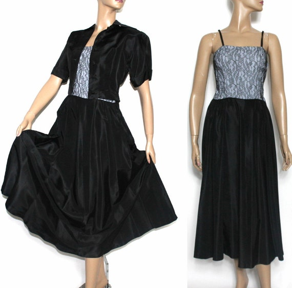 Vintage 1940s 1950s Dress// Designer Carole King//