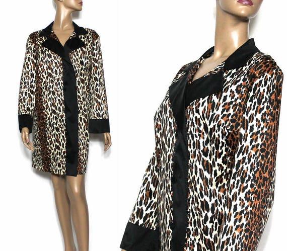 Vintage Coat// 1960s// Faux Leopard// Leopard Jack