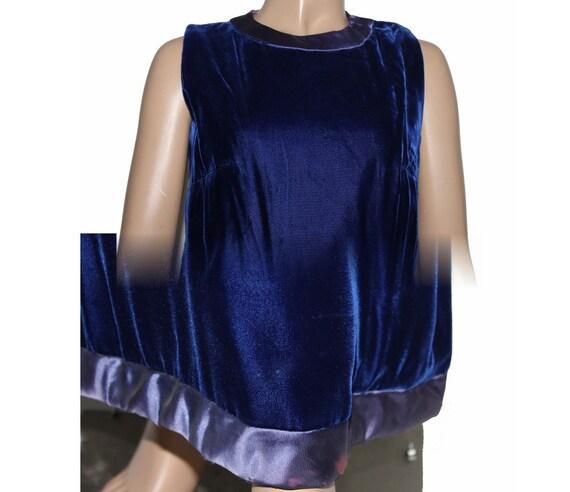 Vintage 1930s 1940s Blue Velvet Vouge Gown - image 5