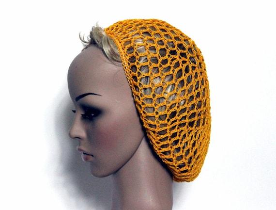 Vintage Snood Gold Hat Joan Crawford Pinup Bombshe