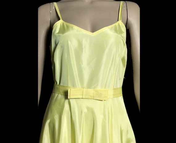 Vintage 1930s Dress Yellow Cocktail Party Prom Dr… - image 5