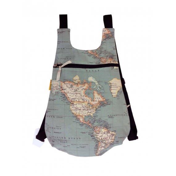 World Map Backpack Backpack Womens Backpack Original Etsy