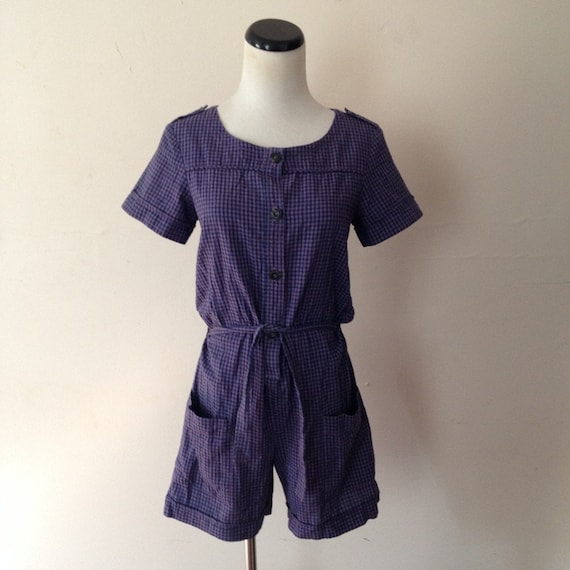 A.P.C. vintage 1990s lavender blue gingham plaid r