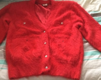 80% Fluffy Fully Lined Angora Cardigan/jacket
