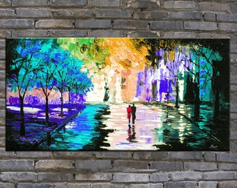 painting,original oil painting,landscape painting,impasto,heavy texture,huge size,palette knife painting-OR432
