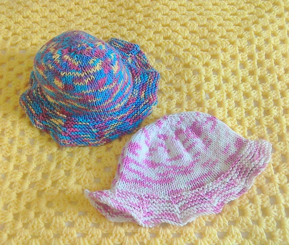 BABY HAT KNITTING Patterns Brimmed Baby Hat Knitted Hat