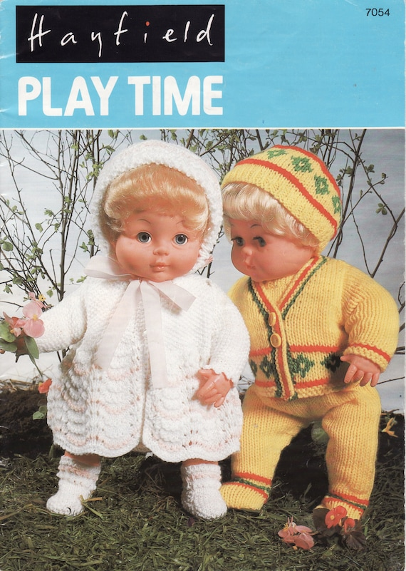 Vintage Knitting Pattern Book Dolls Clothes Patterns Baby Etsy