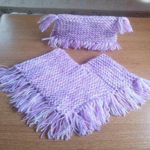 Poncho Knitting Pattern Baby Poncho Knitting Pattern Easy Etsy