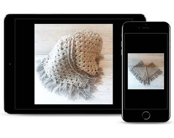 Crochet Poncho Pattern, Baby Poncho Pattern, GIrl's Poncho Pattern, Double Knit Pattern, Easy Poncho Pattern, Crochet Cape, Boho Poncho