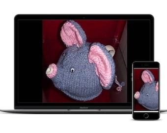 TEA Cosy KNITTING Pattern, Tea Cosy PDF Knitting Pattern, Elephant Tea Cosy Knitting Pattern, Elephant Cosy Pattern, Cosy Knitting Pattern