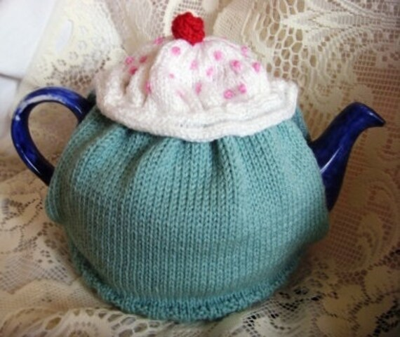 Cupcake Knitting Pattern Tea Cosy Knitting Pattern Easy Tea Etsy