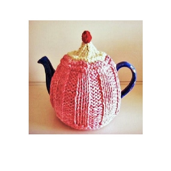 Tea Cosy Knitting Pattern Strawberry Cupcake Tea Cozy Cosy Etsy