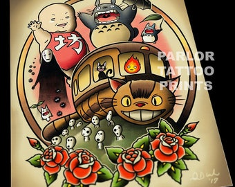 Traditional Tattoo Flash Art by Quyen Dinh by ParlorTattooPrints