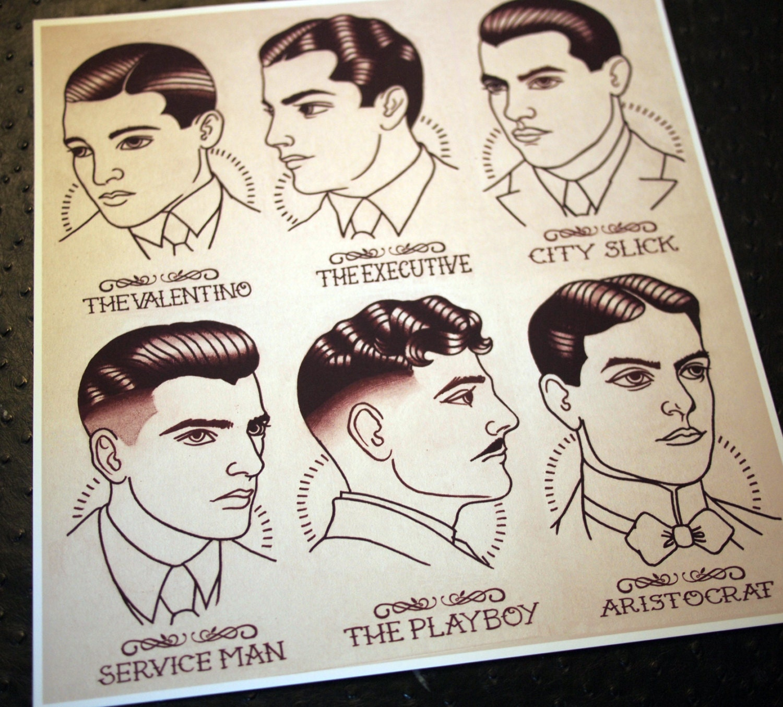 20er Jahre Herren Frisur Friseur Schuster Guide 11 X 11 5