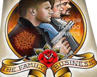 Supernatural Tattoo Flash Art Print
