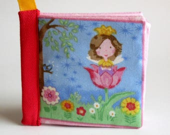 Fairy baby book. baby soft book, quiet book, baby shower gift, Easter baby girl gift