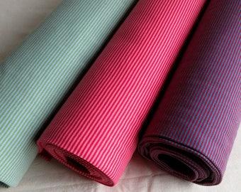Striped cuff fabric pink, green, blue, Hilco cotton ribbing rib knit tubular elasticated stretch fabric for waistband sleeves neckline