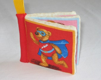 Teddy Bear cloth book for baby bear book soft cloth book quiet time book baby cloth book bear adventure book stocking filler unisex baby gif