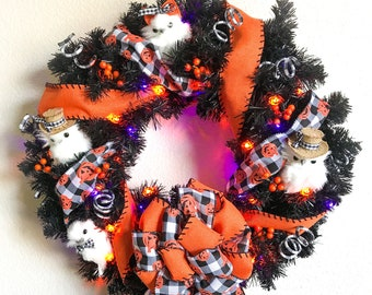 Halloween Harry Potter Owls Wreath