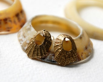 Tiny Limpet Stud Earrings