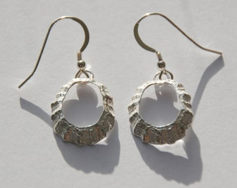 Porthmeor St Ives Silver Limpet Drop Earrings *NEW*