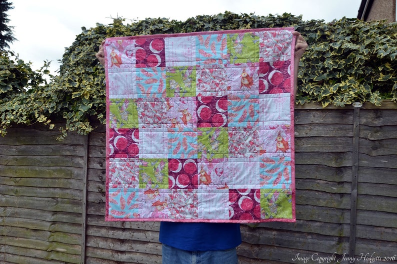 Baby quilt patchwork baby girl quilt modern contemporary baby image 0
