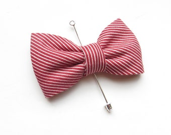 b7bdd5d80e77 Red Burgundy Bow Tie Lapel Pin, Maroon Suit Lapel Pin, Burgundy Striped  Suit Pin, Suit Accessoies, Gift Idea, Bow Tie Lapel Pin