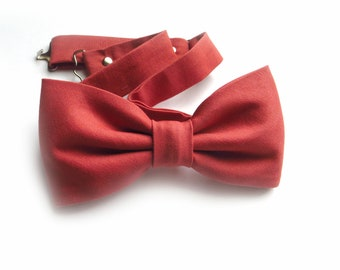 Bow Tie Dusty Coral Sedona, Men's Self-Tied, Ring Bearer Outfit, Sedona Bridesmaid Dress