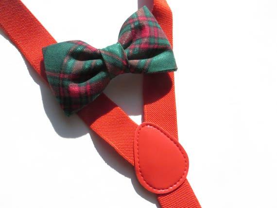 b8eb7b692004 Suspender Set Christmas Holiday Red Green Metallic Suspender | Etsy