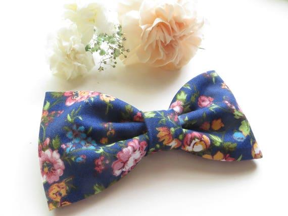 Blue Floral Bow Tie Man, Blue Floral Bow Tie Toddler, Blue Floral Necktie, Blue Bow Tie, Blue Necktie