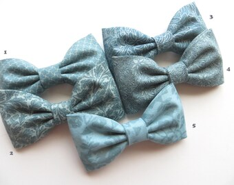 Smokey Blue Bow Tie Assortment, Self Tie Bow Tie, Ring Bearer Outfit