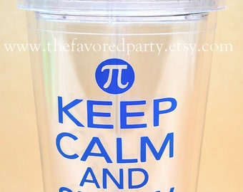 Keep Calm and Show Your Work tumbler