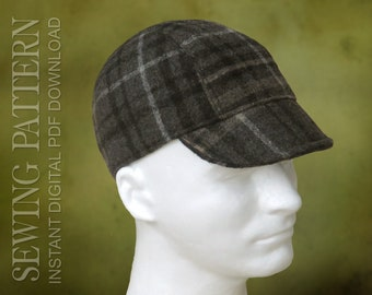 sewing pattern ianto classic cycling cap welding cap etsy