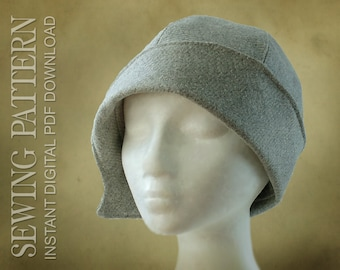 61fe5b1595c SEWING PATTERN - Clementine 1920 s Twenties Cloche Hat for Child or Adult -  PDF Download