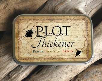 Plot Thickener - Card Game, Writing Prompts, Life Enrichment, Story Telling, Fiction Writing , Gift