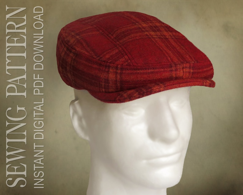 Men's Vintage Workwear Inspired Clothing SEWING PATTERN - Finch 1920s Irish Flat Cap Ivy Cap for Child or Adult patch cap optional ear flap - PDF Download  AT vintagedancer.com